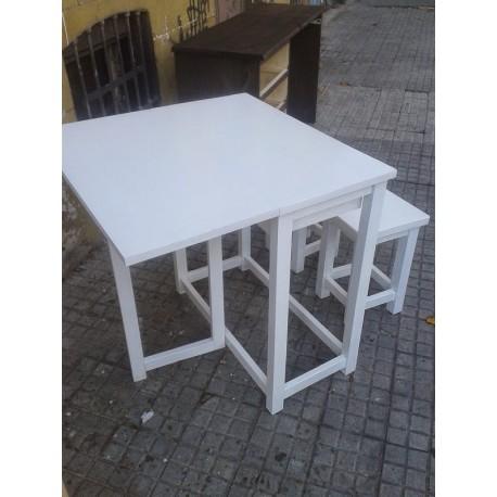 Mesa para espacios reducidos la casa de madera Mesas para espacios pequenos