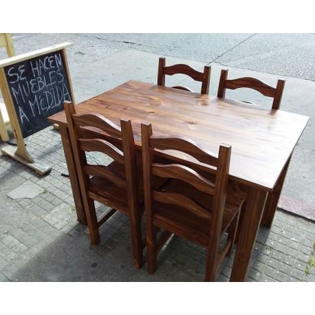 Mesa 110 x 70 con 4 sillas Ola
