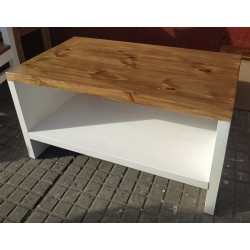 Mesa ratona en madera de pulgada y media 90 x 60 cm