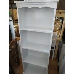 Biblioteca de madera pintada con laca blanca 170 x 60 x 25