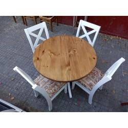 Juego de comedor redondo 4 silllas