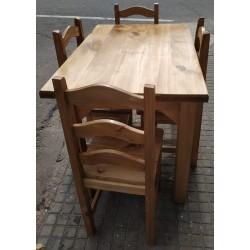 Juego de comedor Ola con mesa 105 x 70
